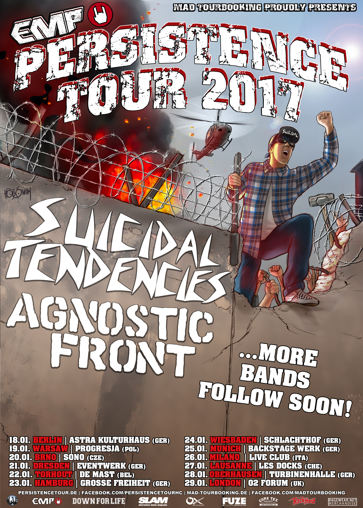 Flyer Persistence Tour 2018
