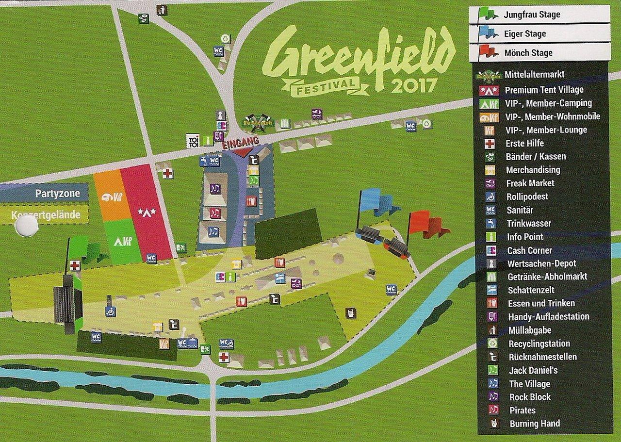 Geländeplan Greenfield Festival
