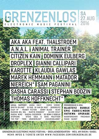Flyer Grenzenlos Festival 2017