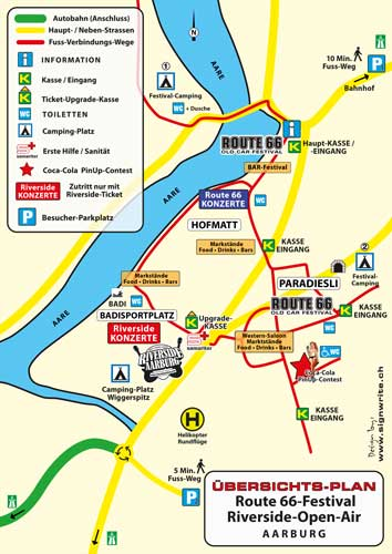 Festivalplan Riverside Aarburg