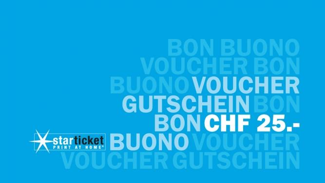 Starticket Gutschein - Wert 25 CHF