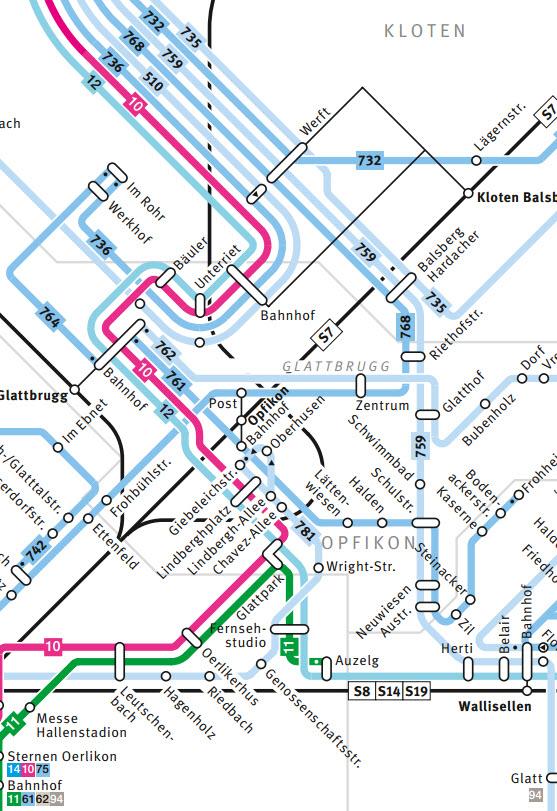 Zürich Openair Anfahrt Tram VBZ